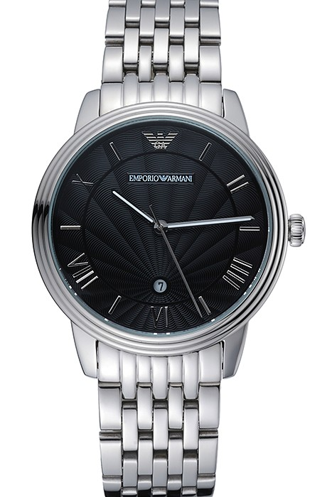 Emporio Armani Classic Black Dial Stainless Steel Bracelet watch