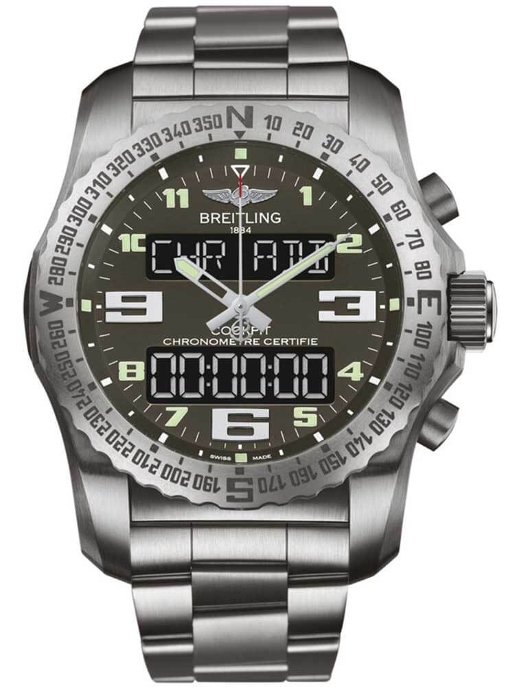 Breitling Professional Quartz Titanium Grey Dial Mens EB5010B1/M532/176E Watch
