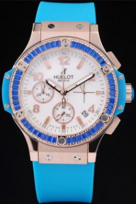 Hublot Big Bang Tutti Frutti Blue Strap Gold Face (hb13)