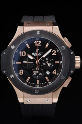 Hublot Big Bang King Black Strap Gold Face (hb34)