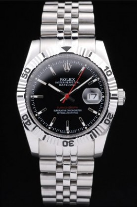 Rolex Datejust Polished Stainless Steel Black Dial (rl279)