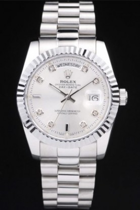Rolex Day-Date Polished Stainless Steel Silver Dial (rl278)