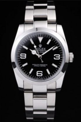 Rolex Explorer Polished Stainless Steel Black Dial (rl283)