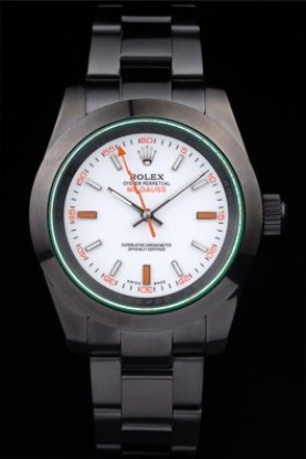 Rolex Milgauss Pro-Hunter Tinted Green Saphire White Dial (rl295