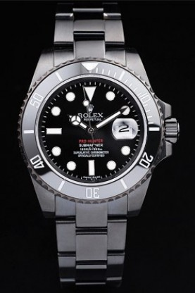 Rolex Swiss Submariner Pro-Hunter Black Steel Strap Black Dial (