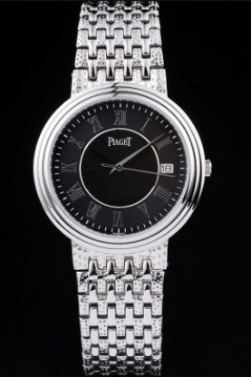 Piaget Dancer Stainless Steel Case Black Roman Dial (pg12)