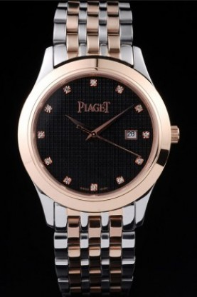 Piaget Dancer Rose Gold Case Black Checkered Dial (pg15)