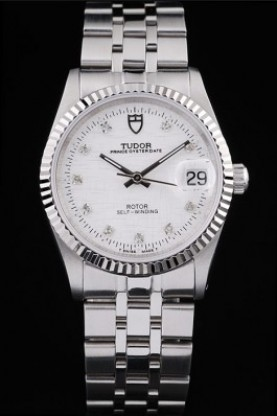 Tudor Swiss Classic Prince Date Stainless Steel Case Silver Ribb