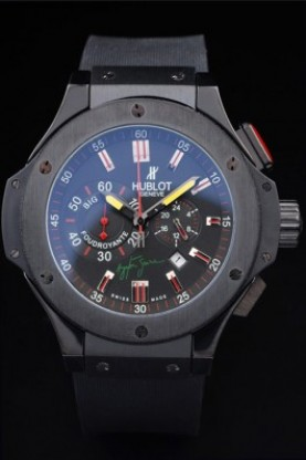 Hublot Limited Edition Ayrton Senna 2009 Black Face (hb29)