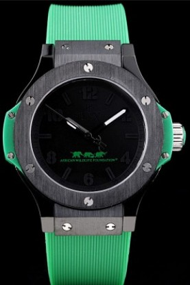 Hublot Big Bang African Wildlife Foundation Green Rubber Strap (