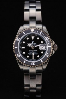 Rolex Submariner Narrow Lady Black Bezel Black Dial Tachymeter (