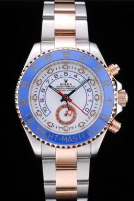 Rolex Yachtmaster Blue Ceramic Bezel White Dial Tachymeter (rl38
