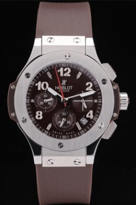 Hublot Big Bang Brown Strap White Dial (hb10)