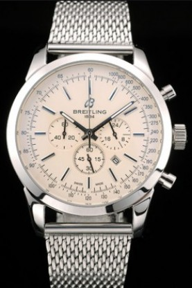 Breitling Transocean Stainless Steel Case Light Yellow Dial (bl3