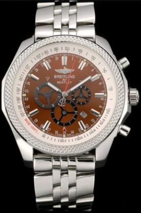 Breitling for Bentley Stainless Steel Strap Brown Dial (bl392)