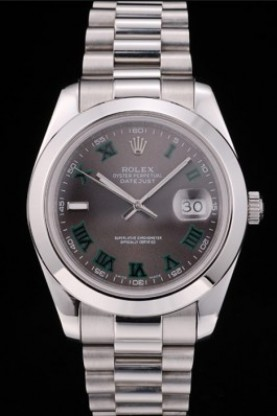 Rolex DateJust Grey Dial Stainless Steel Strap 41982 (rl401)