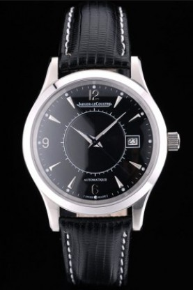 Jaeger Le Coultre Swiss Master Control Stainless Steel Bezel Bla
