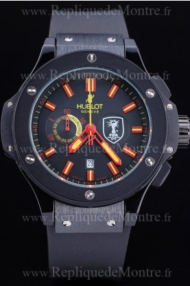 Hublot Limited Edition Ayrton Senna Black Face Red Hands (