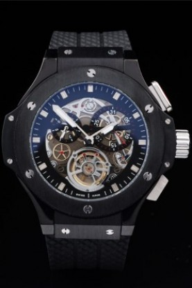 Hublot King Power Tourbillon Black Strap Black Face (hb39)