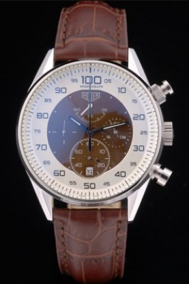 Tag Heuer Mikrograph Limited Edition Brown Leather Strap 7916 (t