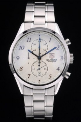 Tag Heuer Carrera Stainless Steel Strap White Dial 7925 (tag224