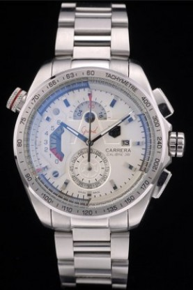 Tag Heuer Carrera Calibre 36 Stainless Steel Strap White Dial 79