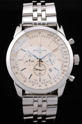 Breitling Transocean White Dial Stainless Steel Strap (bl363)