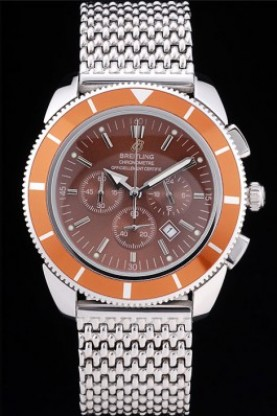 Breitling Certifie SuperOcean Brown Dial Orange Tachymeter (bl34