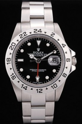 Rolex Explorer Stainless Steel Tachymeter Black Dial (rl346)