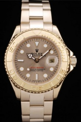 Rolex Yacht Master Gold Tachymeter Gold Dial (rl352)