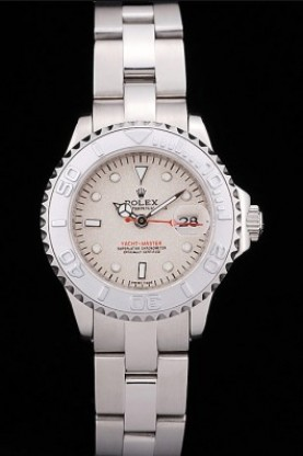 Rolex Yacht Master Silver Tachymeter Beige Dial (rl356)