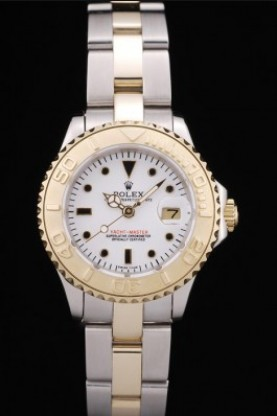 Rolex Yacht Master Gold Tachymeter White Dial (rl357)