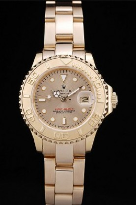 Rolex Yacht Master Gold Tachymeter Gold Dial (rl358)