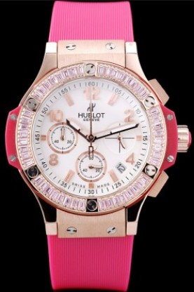 Hublot Big Bang Tutti Frutti Pink Strap Gold Face (hb15)
