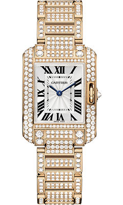 Cartier Tank Anglaise Pink Gold With Diamondshpi00558
