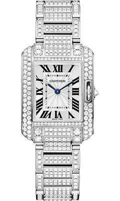 Cartier Tank Anglaise White Gold With Diamondshpi00559