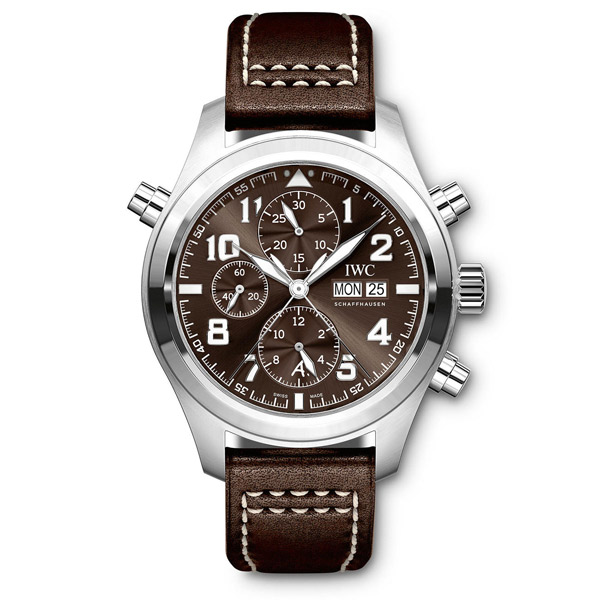 IWC Pilot Brown Dial Automatic Men's Chronograph Watch IW371808