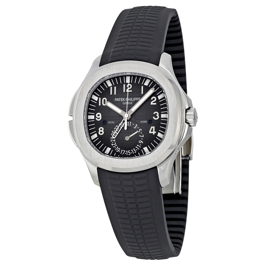 Patek Philippe Aquanaut Dual Time Black Dial Automatic Men's Wat