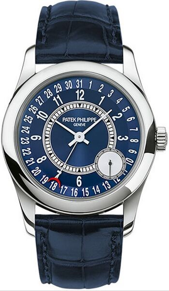Patek Philippe Calatrava Blue Dial 18K White Gold Automatic Men'