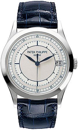 Patek Philippe Calatrava Automatic Silver Dial 18 kt White Gold