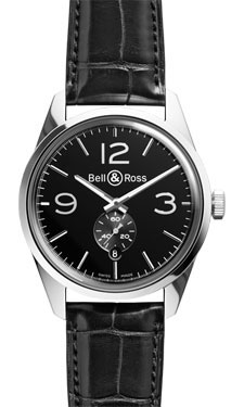 Bell & Ross Vintage BR 123 Officer Polished Steel Black