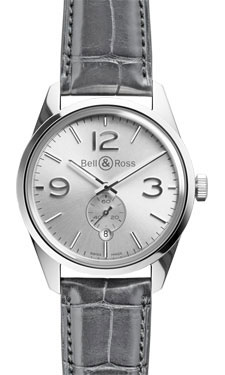 Bell & Ross Vintage BR 123 Officer Polished Steel Silver
