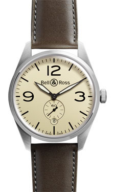 Bell & Ross Vintage BR 123 Automatic Satin Steel Beige