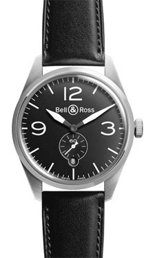 Bell & Ross Vintage BR 123 Original Satin Steel Black