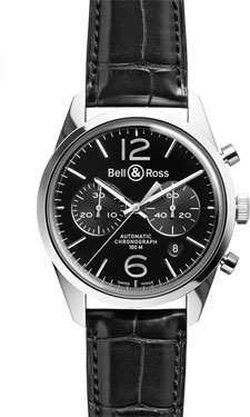 Bell & Ross Vintage BR 126 Officer Polished Steel Black