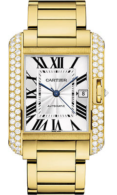 Cartier Tank Anglaise Yellow Gold With Diamondswt100007
