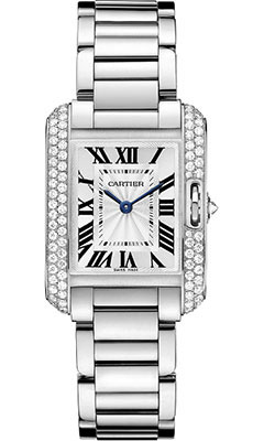 Cartier Tank Anglaise White Gold With Diamondswt100008