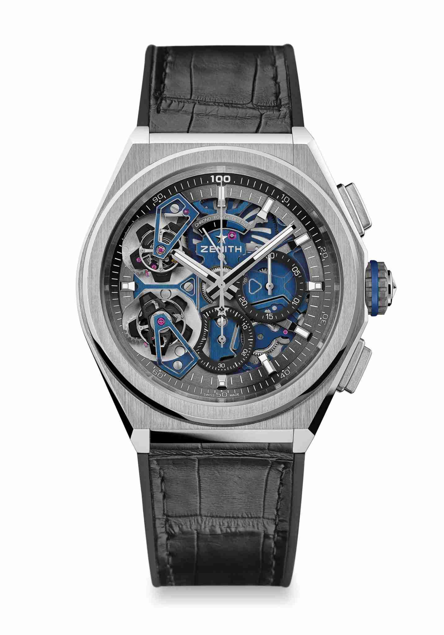 Zenith Defy El Primero Double Tourbillon Automatic Black Carbon And Platinum Replica Watches For 2019 Good Friday 1.jpg