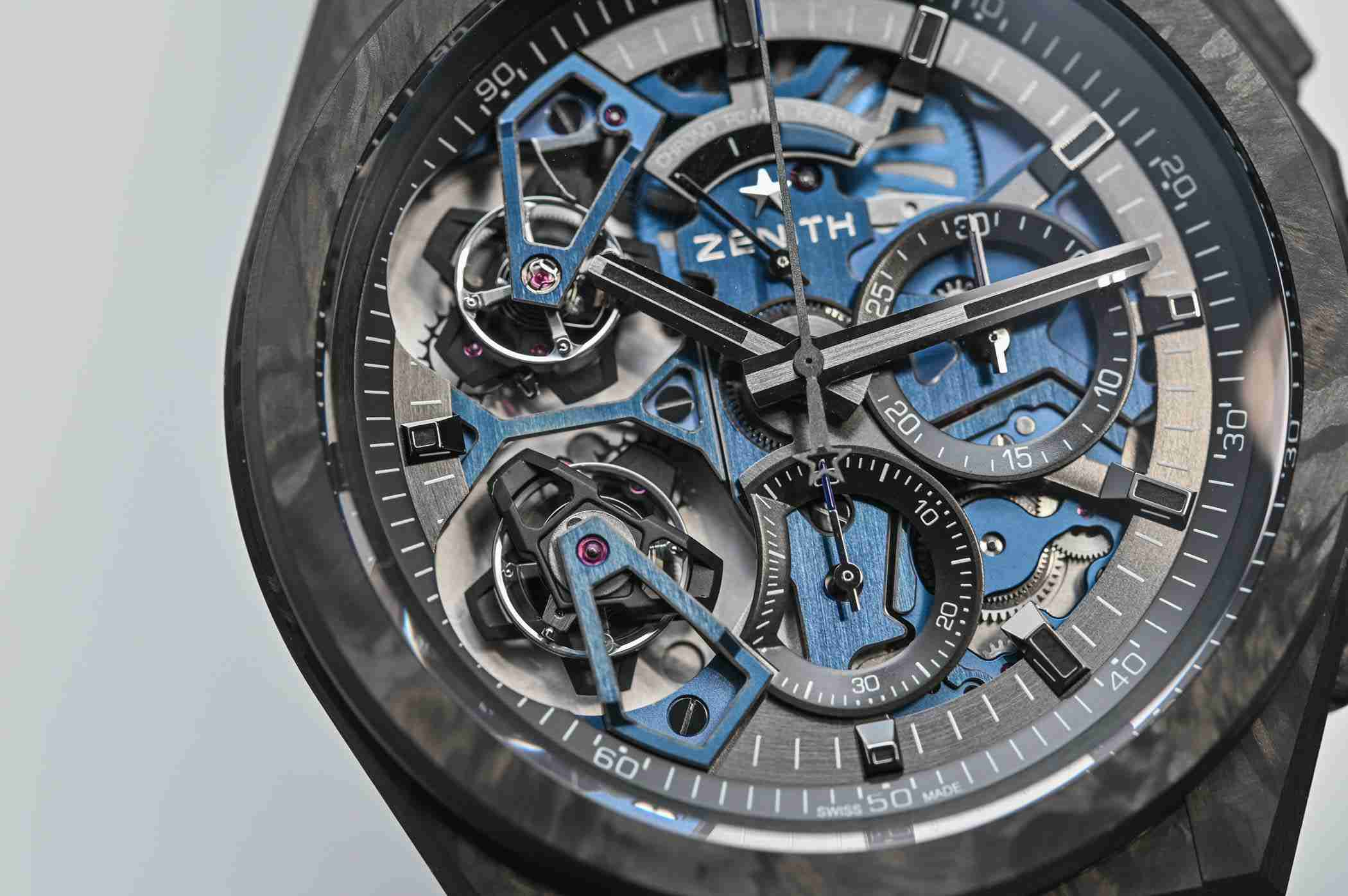 Zenith Defy El Primero Double Tourbillon Automatic Black Carbon And Platinum Replica Watches For 2019 Good Friday 2.jpg