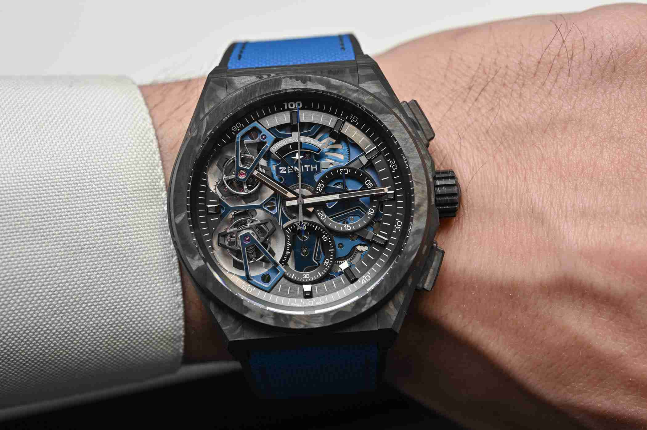 Zenith Defy El Primero Double Tourbillon Automatic Black Carbon And Platinum Replica Watches For 2019 Good Friday 3.jpg